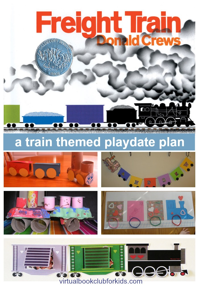 Train Crafts and Activities for Kids {Freight Train by Donald Crews}