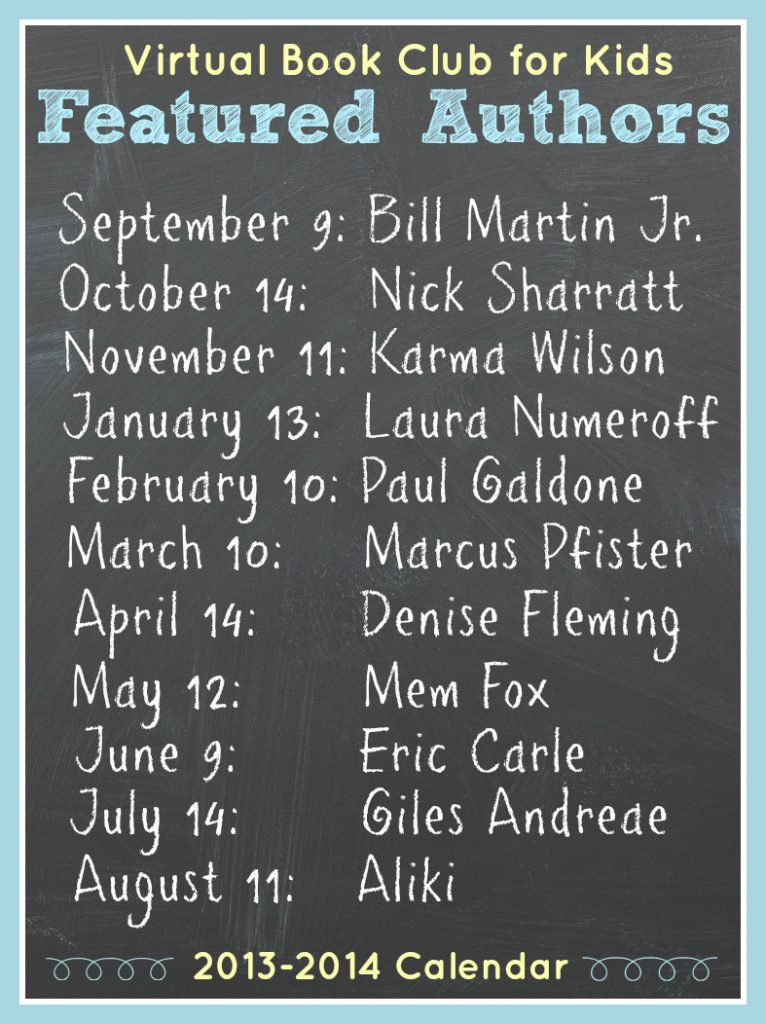 Virtual Book Club for Kids Authors for 2013-2014 (1)