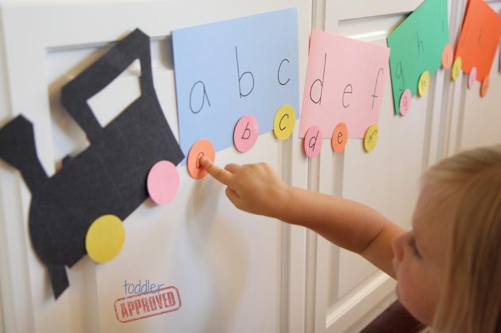 alphabet train learning