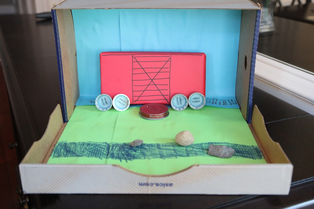 Boxcar children diorama