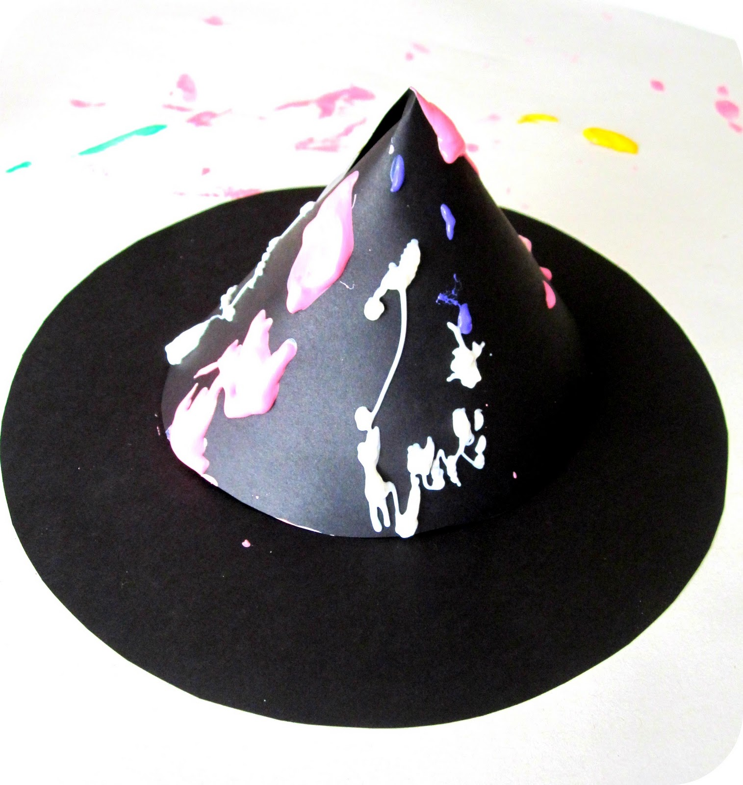 witch hat drip painting