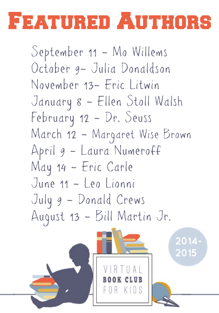 Author List for the Virtual Book Club for Kids 2014-2015