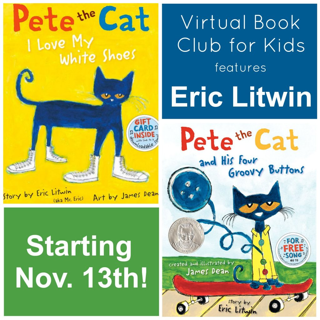 Eric Litwin November Virtual Book Club for Kids