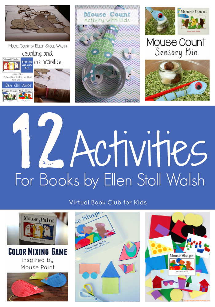 12 Activities for Books by Ellen Stoll Walsh by the Virtual Book Club for Kids
