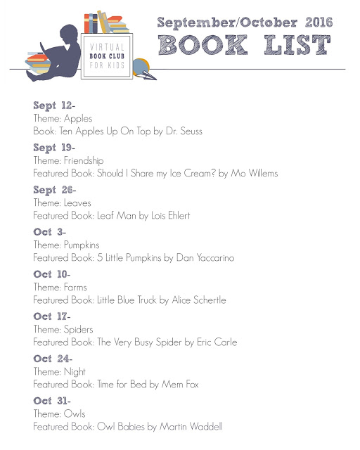 Virtual Book Club for Kids Book List for Fall 2016