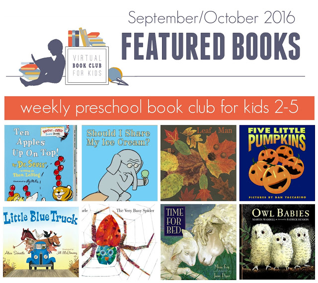 Fall Books for the Virtual Book Club for Kids