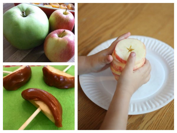 Apple recipes and snack ideas for a book based session for early years