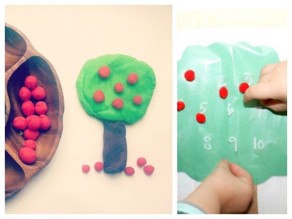 Apple sensory activities for toddlers and preschoolers