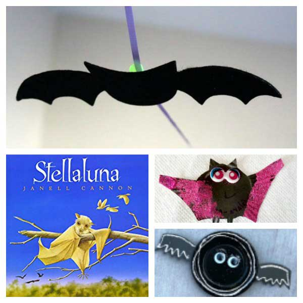 Week activity plan for bat or nocturnal animals with the featured book Stellaluna by Janell Cannon, aimed at Toddlers and Preschoolers
