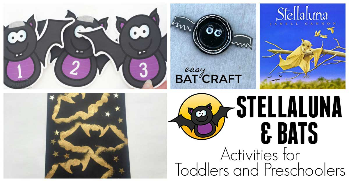 Bat Themed Activities For Toddlers And Preschoolers