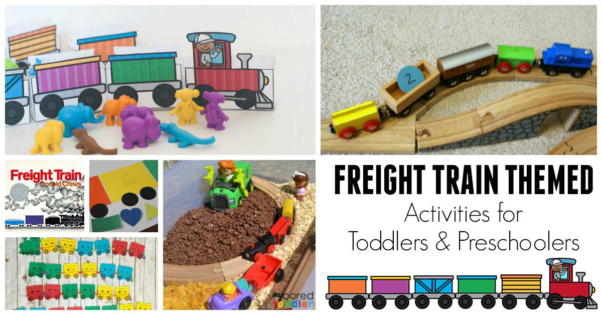Freight Train Activities And Crafts For Toddlers And