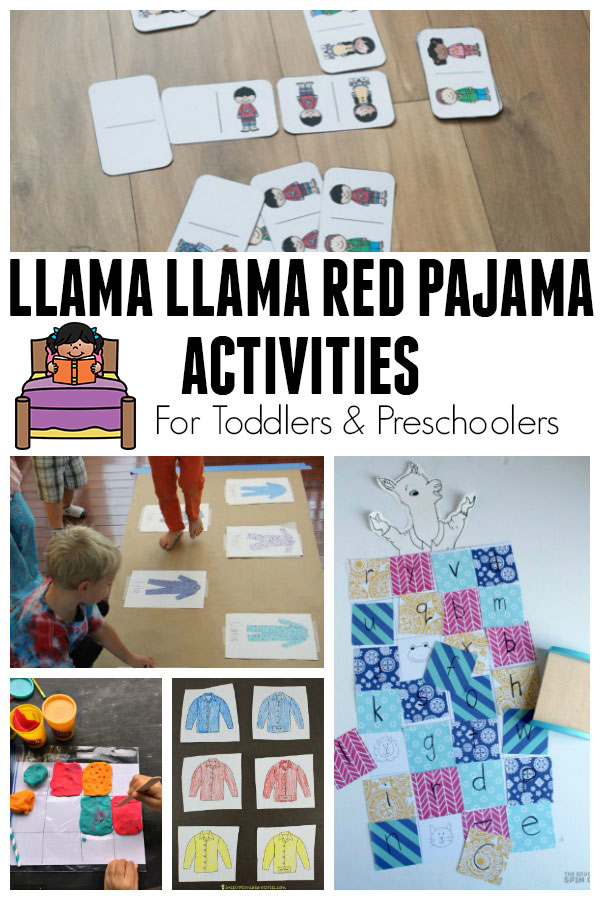Fun activities based on the classic children's storybook Llama Llama Red Pajama by Anna Dewdney ideal for toddlers and preschoolers.