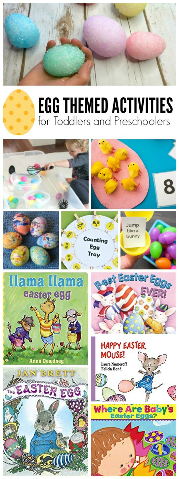Egg Themed Books and Activities for Preschoolers and Toddlers