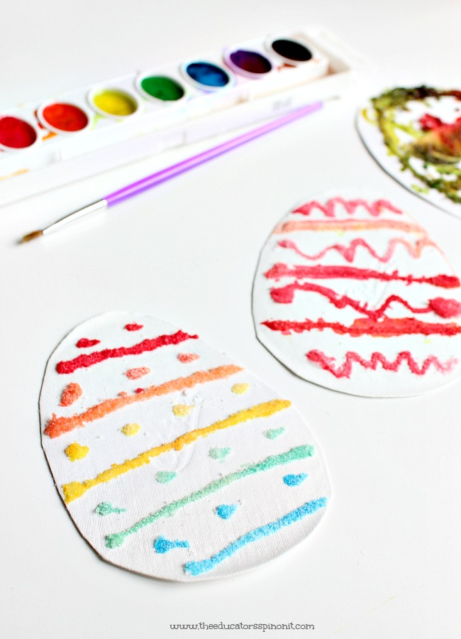 Salt Paint Egg art