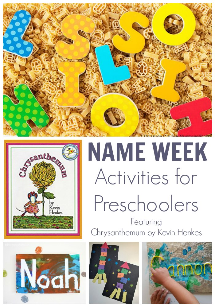 Name Week Activities for Preschoolers with the featured picture book Chrysanthemum by Kevin Henkes. 5 Days of simple Activities to work on Name Recognition and more with preschoolers