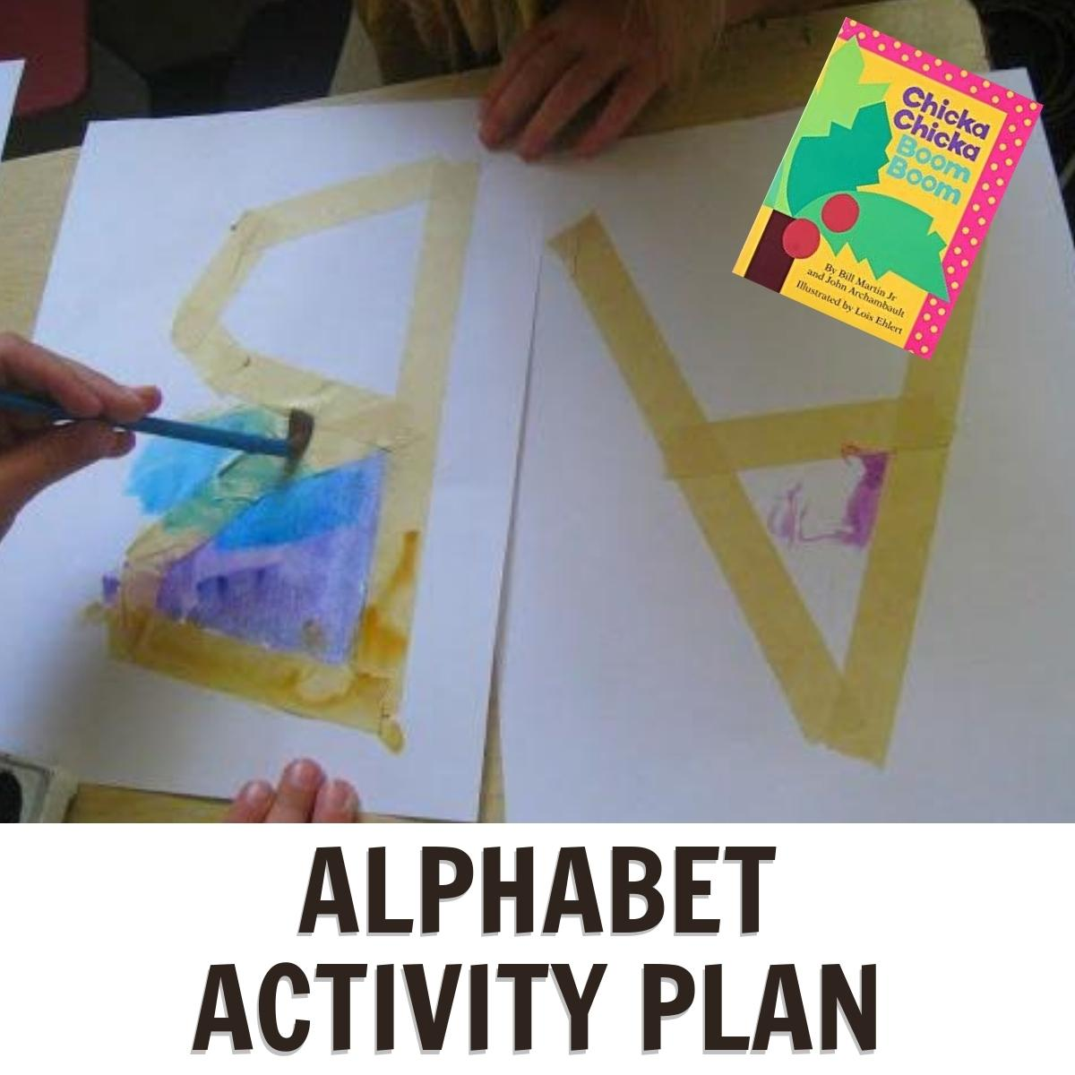 Alphabet Themed Week for Preschoolers Featuring Chicka Chicka Boom Boom