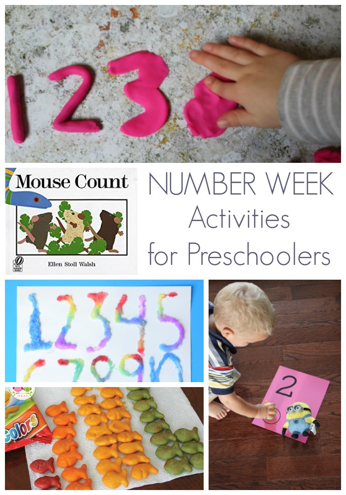Play, learn, create and read with this fun Number Week for preschoolers. Featuring 5 simple, easy to do, simple to set up budget friendly activities.