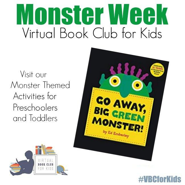Go Away Big Green Monster Book Based Activities for Toddlers and Preschoolers