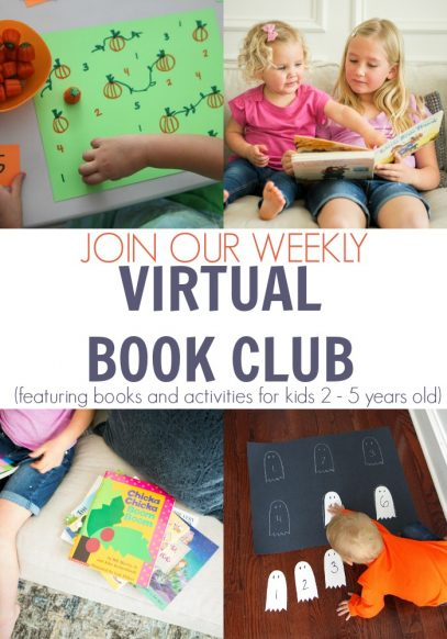 October's Themes for Preschoolers from the Virtual Book Club for Kids including Featured books and way that you can join the fun