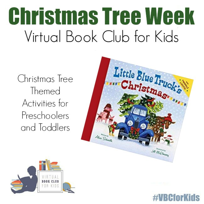 Little Blue Truck's Christmas book with Christmas Tree Themed Activities