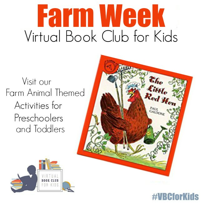 Book Cover of the Little Red Hen book for Farm Animal Week
