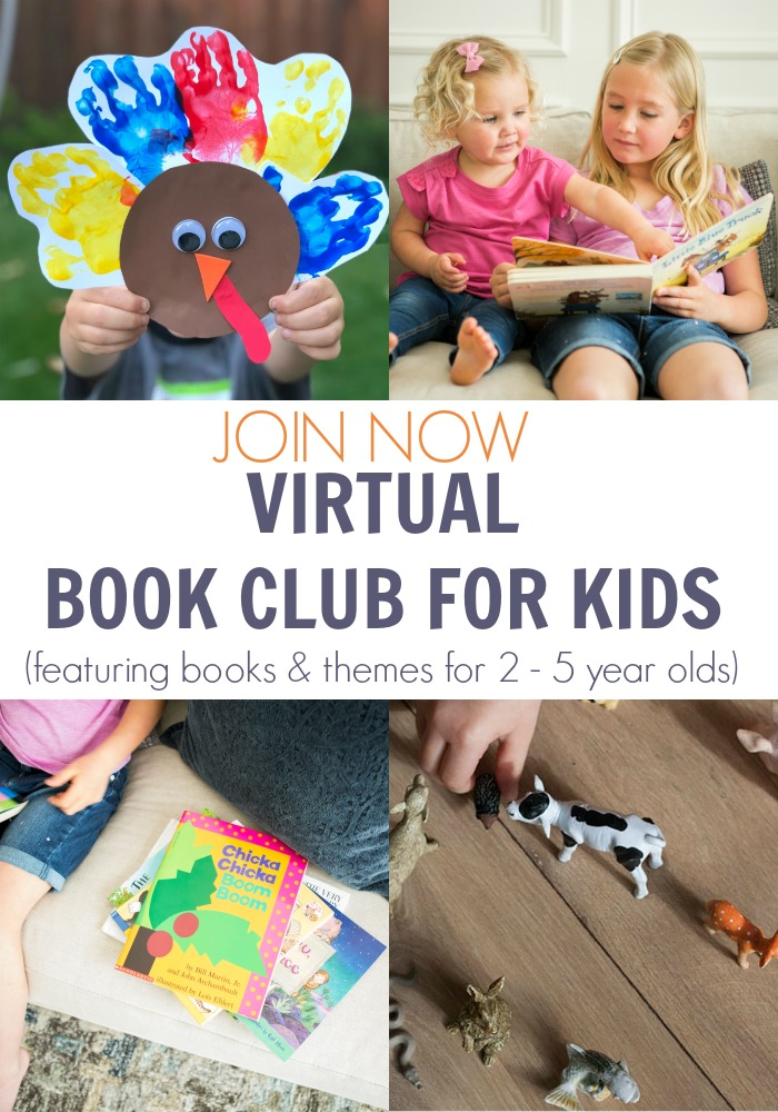 November Themes and Books for toddlers and preschoolers to read, play, create and have fun with the Virtual Book Club for Kids
