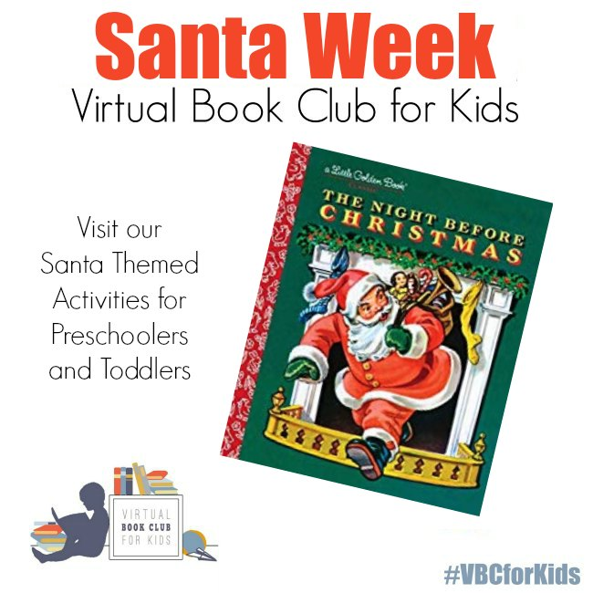The Night Before Christmas Book by Little Golden Books with Santa Activities for Preschoolers