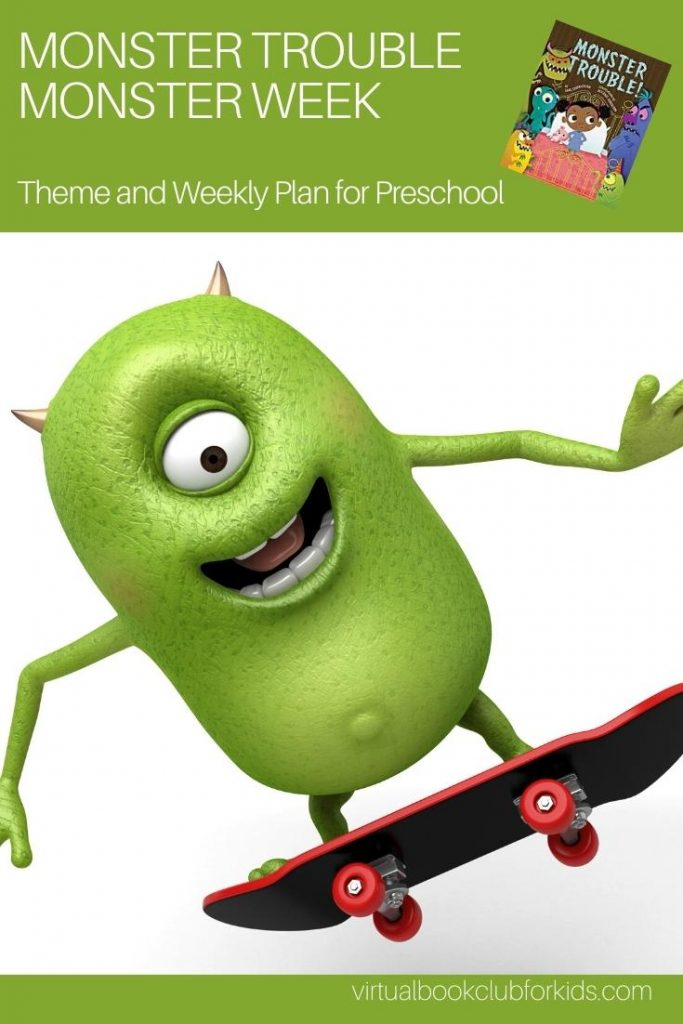 Monster Trouble Activity Plan and Week for Preschoolers Pinterest Image