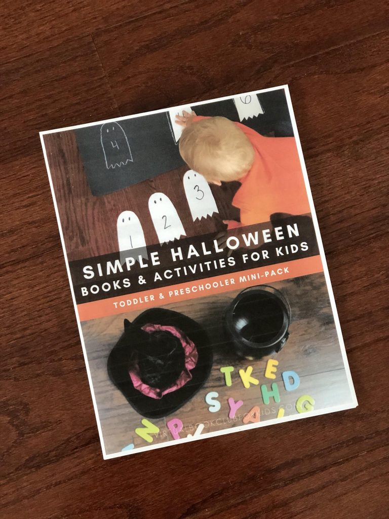 Halloween Mini Pack to purchase in our Virtual Book Club for Kids Store