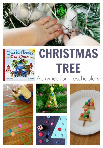 christmas tree activity plan for preschoolers featuring Little Blue Truck's Christmas