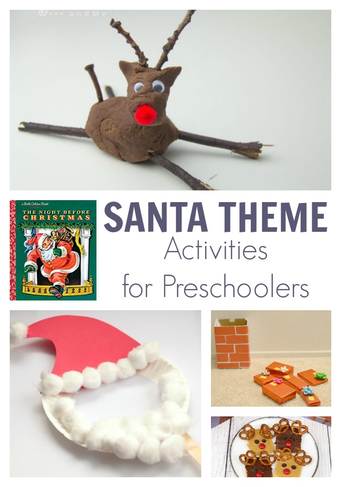 Santa Theme Activities for Preschoolers featuring The Night Before Christmas Classic Christmas Book. To have fun, read, play, create and learn.