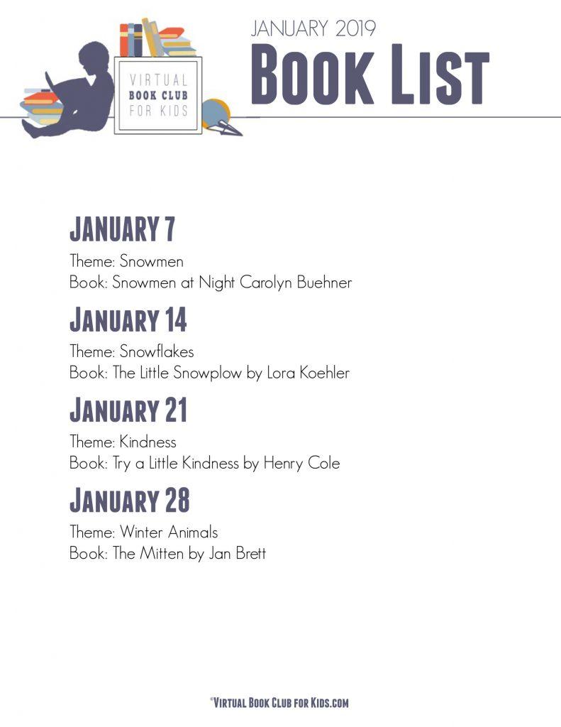VBC BOOK LIST January 2019