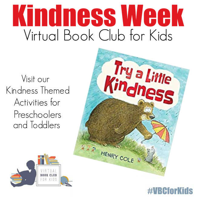 Kindness Week Activity Plan for Preschoolers featuring Try a Little Kindness