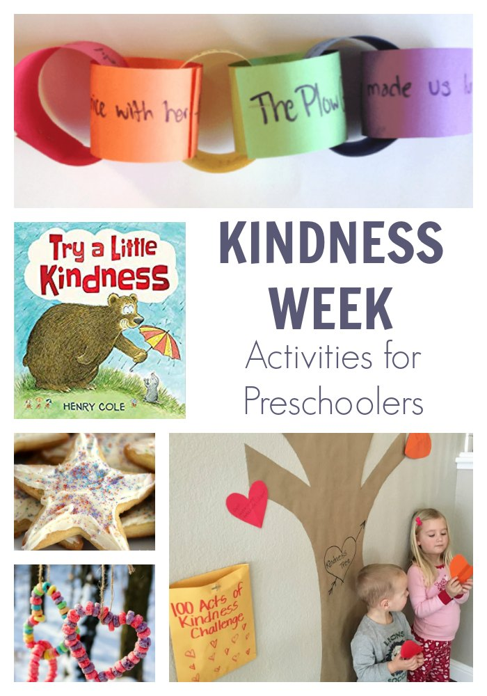A planned week of simple kindness activities for preschoolers. Think about kindness, do acts of kindness at home, for the animals and wider community then keep the kindness going all year round.