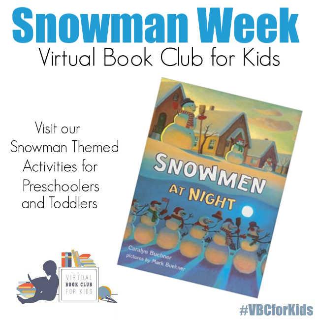 Snowmen Week Plan for Preschoolers Featuring Snowmen at Night