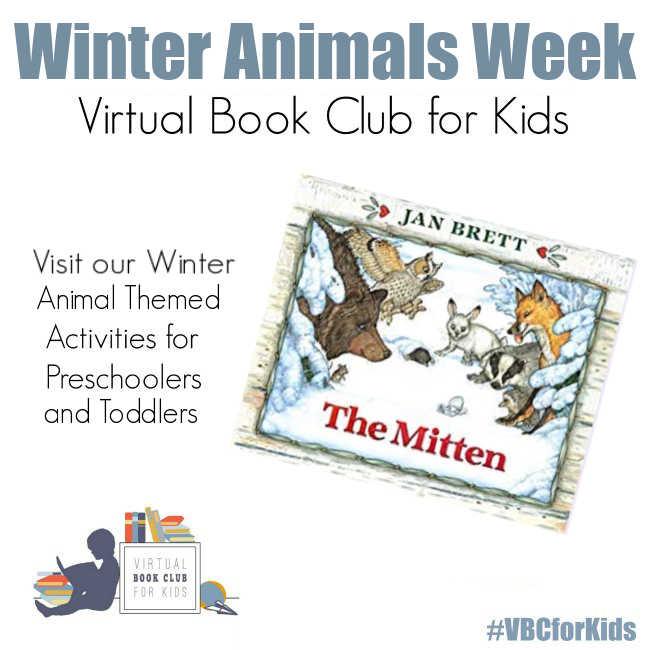 Winter Animal Week for Preschoolers Featuring The Mitten