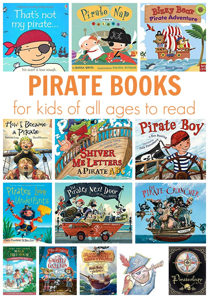 A great selection of Pirate Books that kids of all ages will love to read. From simple toddler touch and feel books to classic literature that the whole family will enjoy
