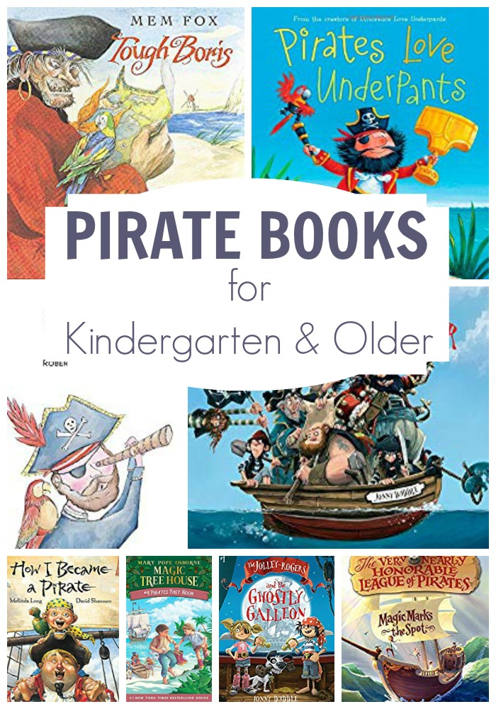Pirate books for Kindergarten and older that you and they will enjoy reading. From silly tales to classic books there is a range of types and recommendations to read together.