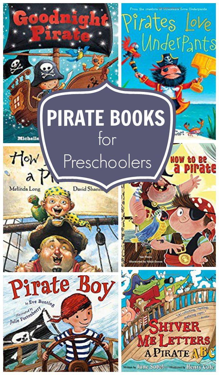Pirate Books for Preschoolers that you can read for fun and to learn recommended by early childhood educators and parents
