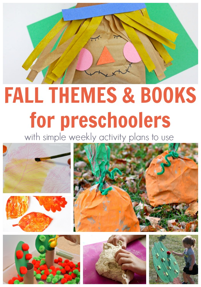 Collection of themed weeks for preschoolers with hands-on activities ideal for fall. Each week features at least 5 hands-on activities to play, create, learn and have fun. PLUS featured books and other recommended read alouds that are ideal for older toddlers and preschoolers to enjoy.