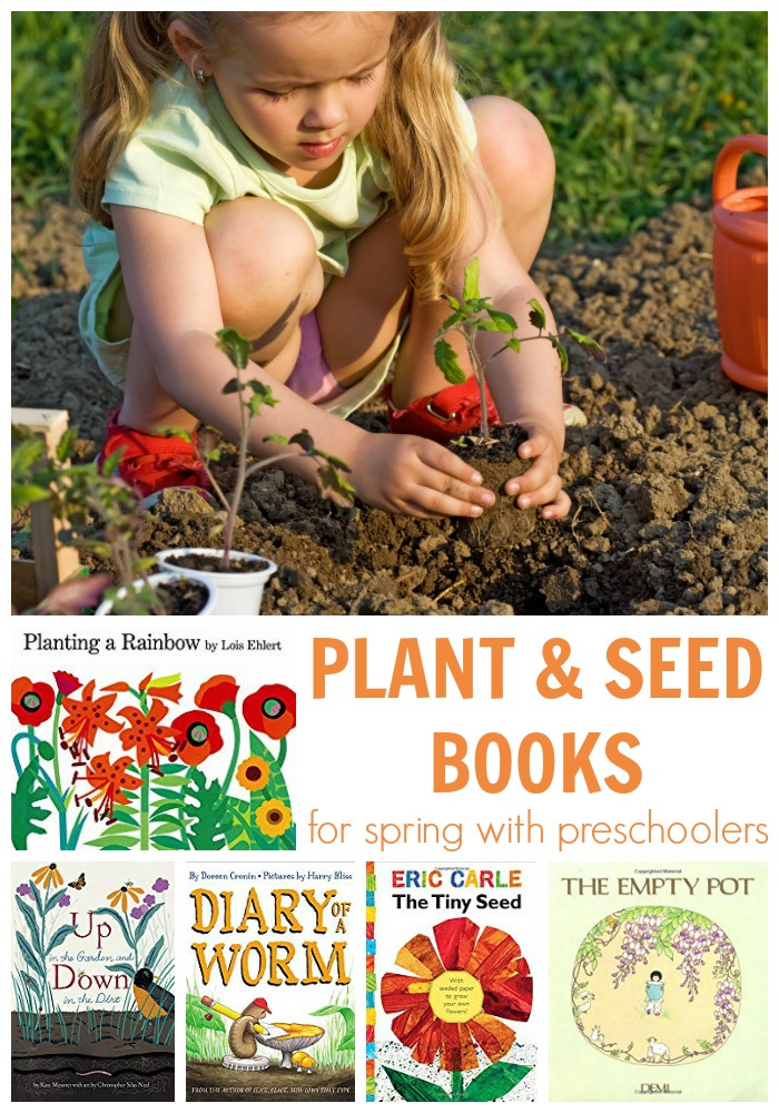 Plant and Seed books for spring with preschoolers