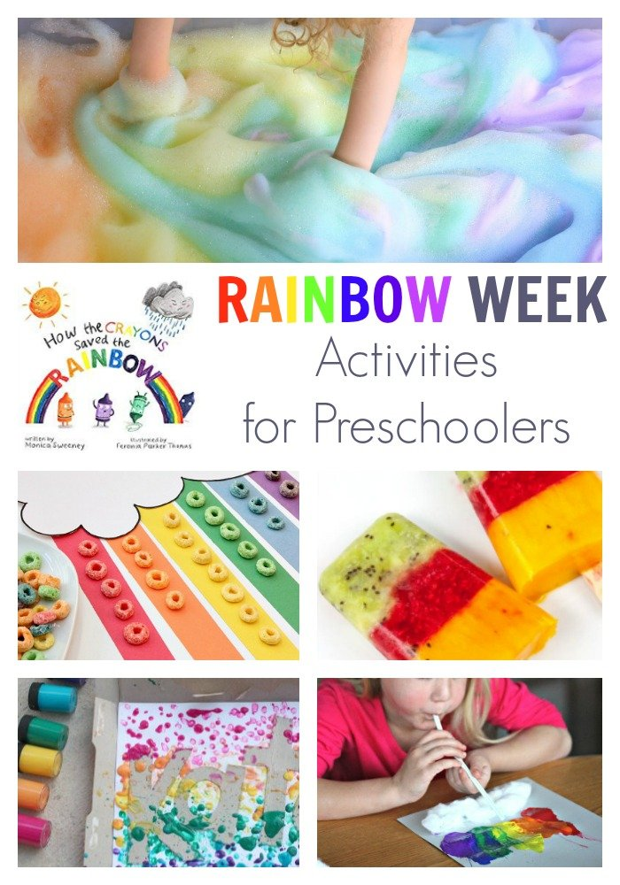 Rainbow Week for Preschoolers Featuring How the Crayons Saved the Rainbow