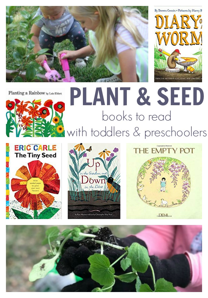 plant and seet books to read with toddlers and preschoolers