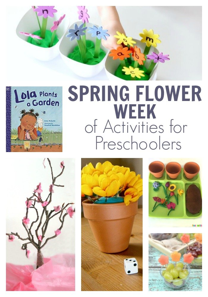 spring flower week of activities for preschoolers featuring lola plants a garden