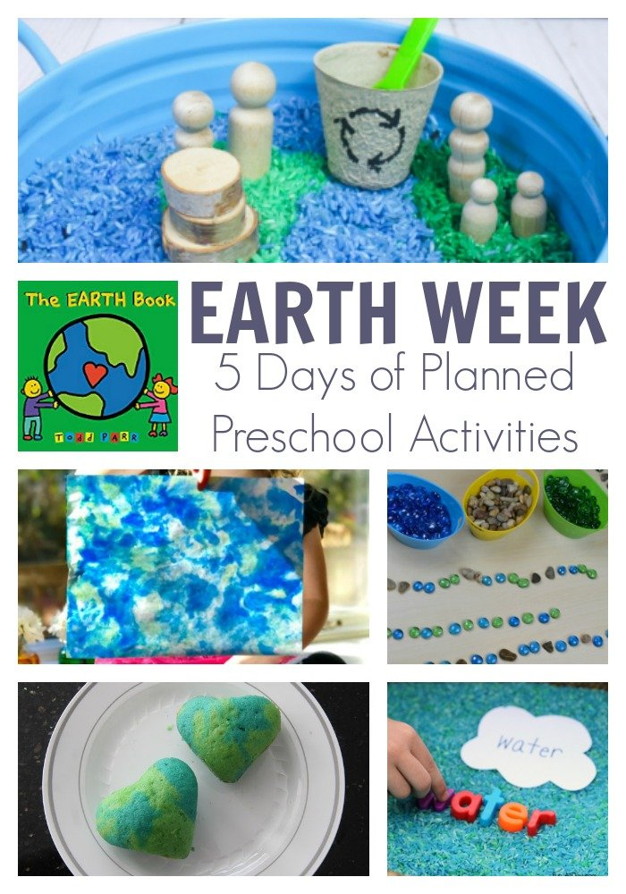 Earth Day and Week Activities for preschoolers from the virtual book club for kids