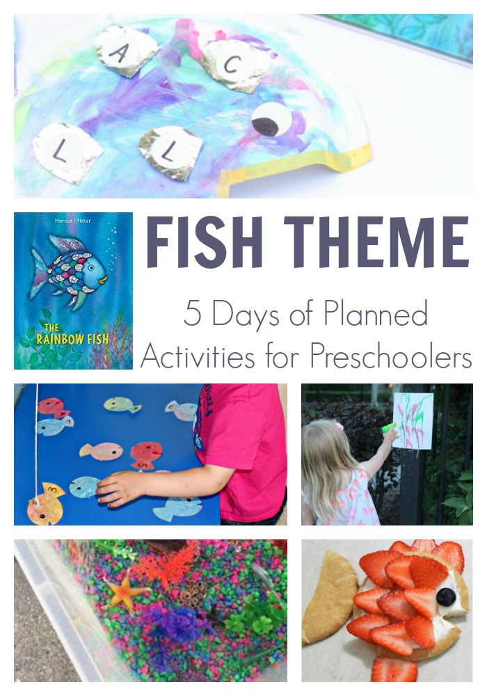 Fish themed activities for preschoolers