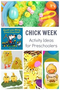 Chick themed activities for preschooler and toddlers