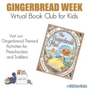 The Gingerbread Man Book Cover featuring Book Activities for Kids