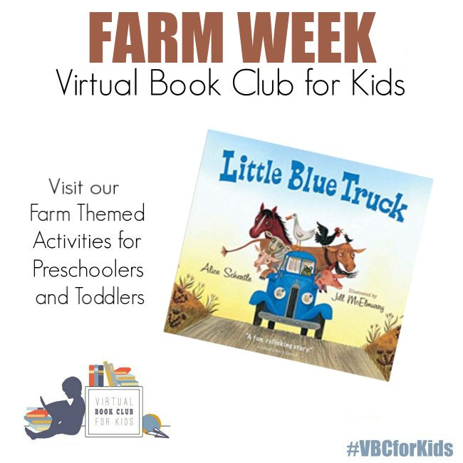 Little Blue Truck Book Cover featuring Book Activities for Kids