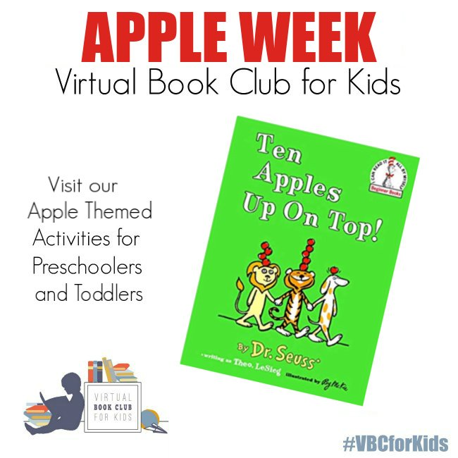 Ten Red Apples Up On Top Book Cover featuring Book Activities for Kids